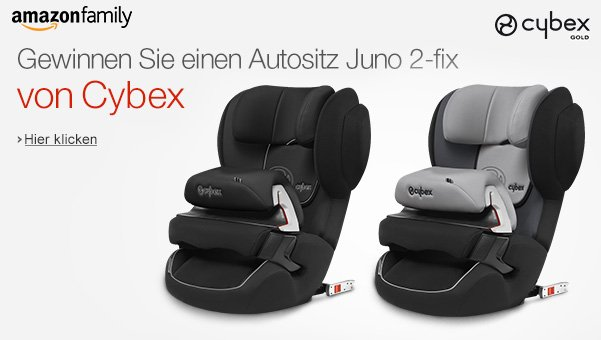 mit amazon family cybex autositze juno 150 euro gewinnen. Black Bedroom Furniture Sets. Home Design Ideas